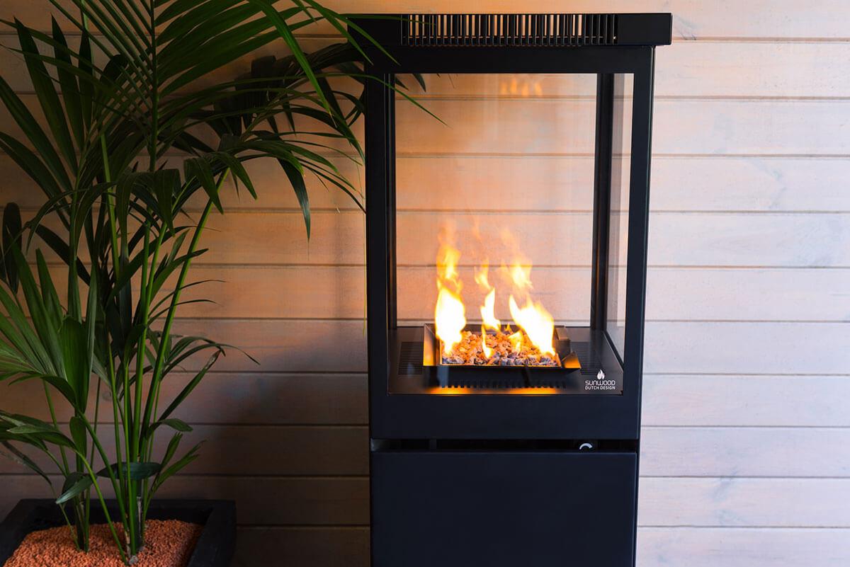 Marino buitenhaard op gas sunwood dutch design for Gas tuinhaard