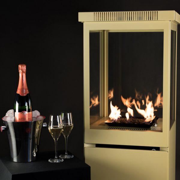 Sunwood Marino Fiery Champagne Buitenhaard met gratis Taittinger Champagne