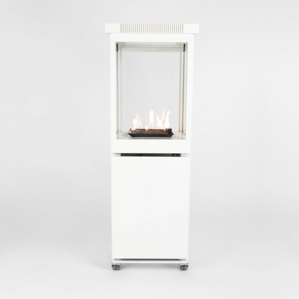 Sunwood Dutch Design Marino Buitenhaard Gas Signal White Kleur Productfoto Vlammenspel