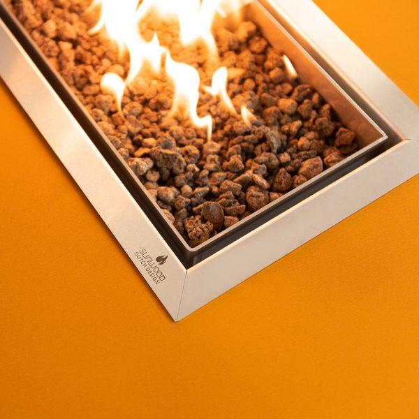 Flamecore inbouwbrander in Habanero buitenhaard