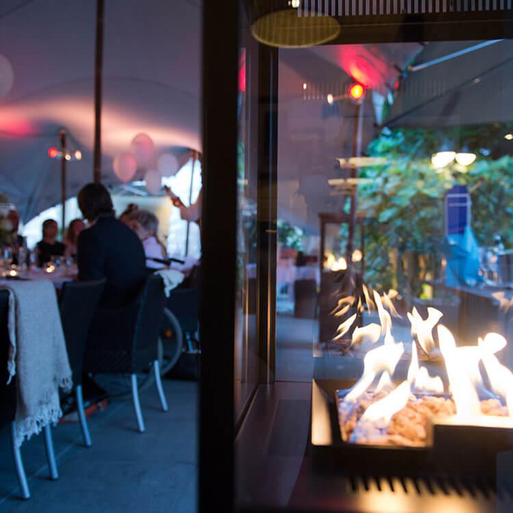 Marino Original Buitenhaard op het terras van Restaurant O&O in Sint Willebrord