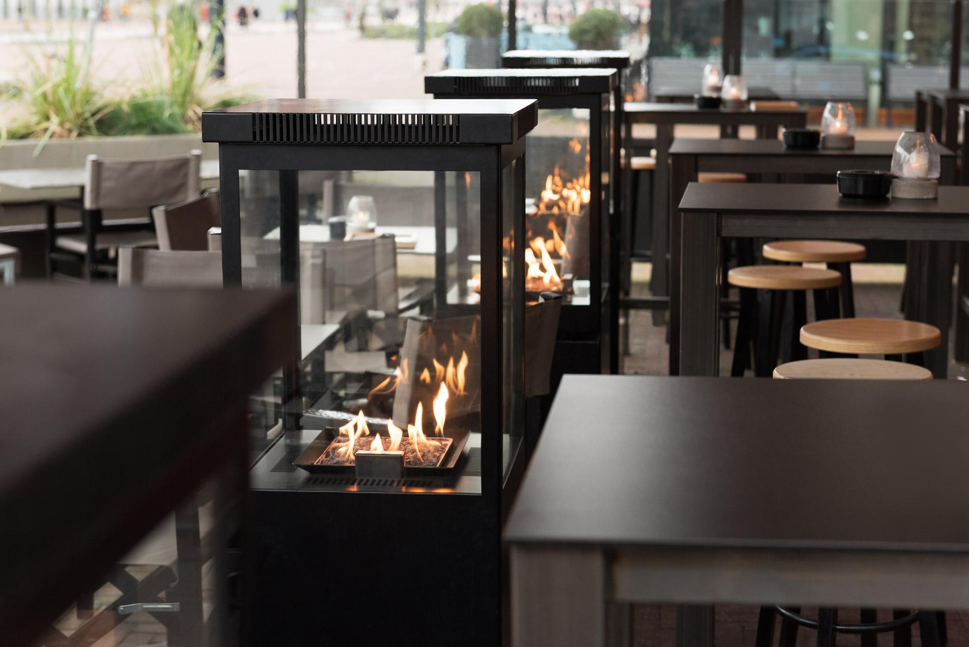 Marino Original Buitenhaard op het terras van Restaurant POL in Rotterdam