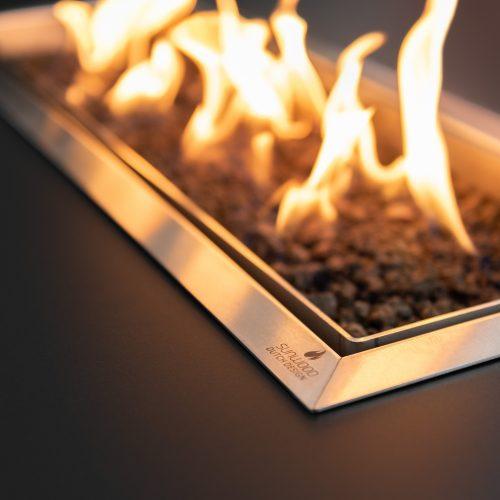Habanero vuurtafel met geïntegreerde gasbrander