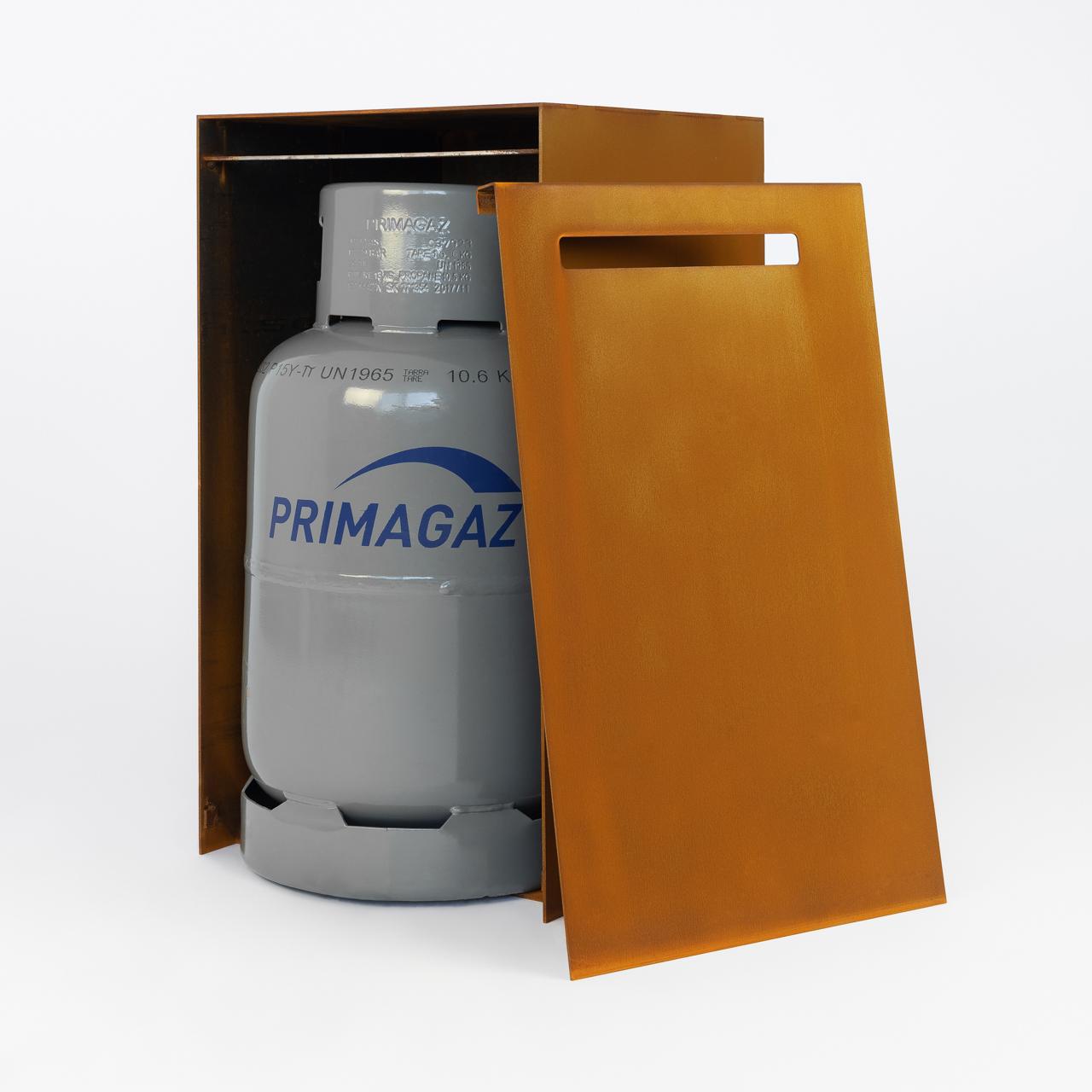 Gasbox bijzettafel en container voor gasfles