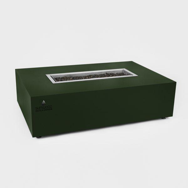 Habanero buitenhaard in custom kleur met geïntegreerde RVS 316 gasbrander