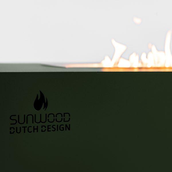 Habanero vuurtafel met Sunwood logo