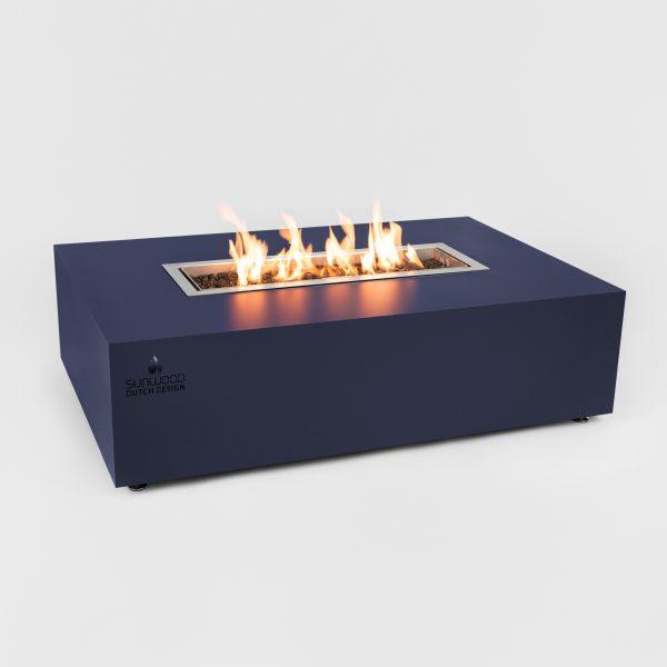 Habanero buitenhaard in custom kleur met Flamecore inbouwbrander
